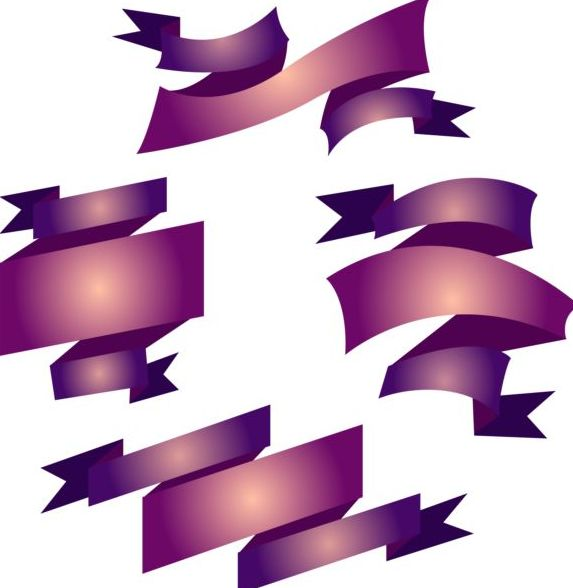 Dark purple ribbons design vector