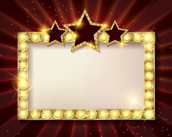 Diamond Frame With Red Star Vector Material 02 Free Download