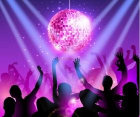 Disco party background creative vector 01