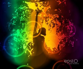 Disco party background creative vector 02