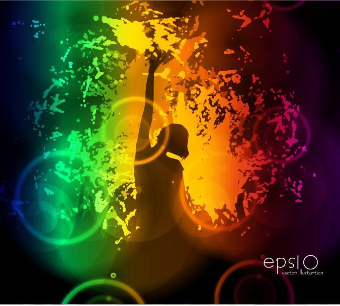 Disco party background creative vector 02