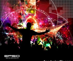 Disco party background creative vector 04