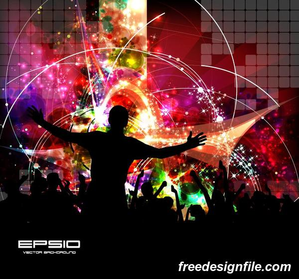 Disco party background creative vector 04