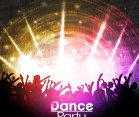 Disco party background creative vector 05
