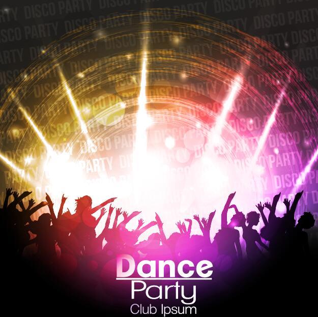 Disco Party Background Creative Vector 05