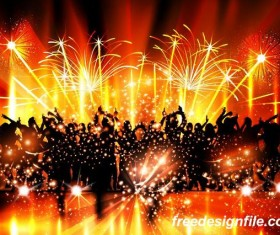 Disco party background creative vector 06