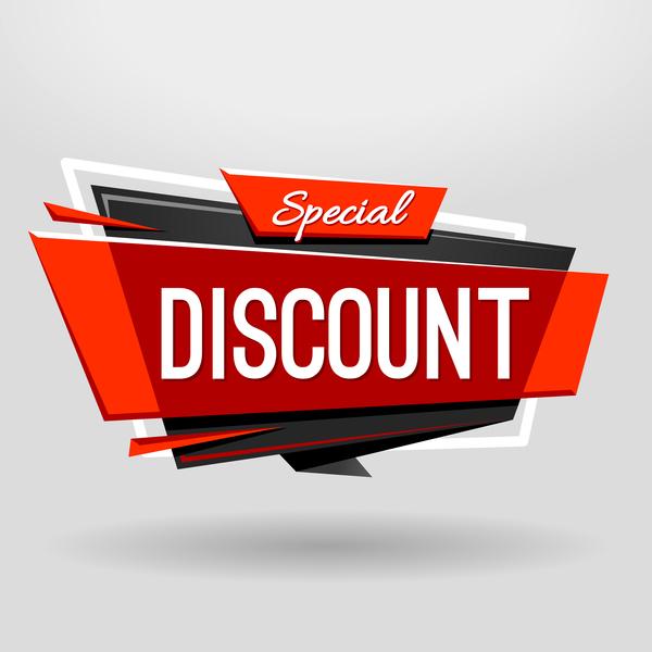 Discount Banner design vector