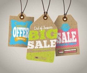 Discount sale tag retro styles vector 13