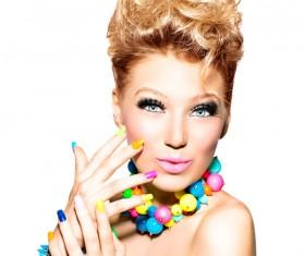 Dress up makeup fashion ladies Stock Photo