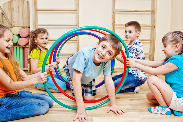Drilling circles of children HD picture