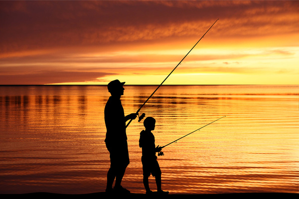 Dusk fishing father and son hd picture free download for Father son fishing
