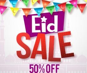 Eid sale discount background vector 02