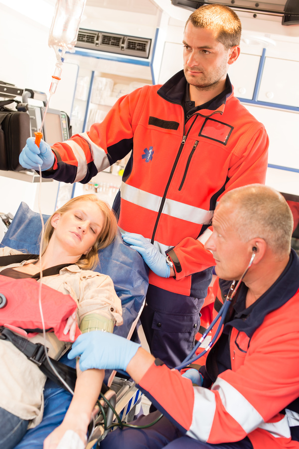 Emergency rescue the patients doctor Stock Photo