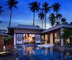European luxury villas Stock Photo