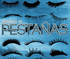 Eyelash Photoshop Brushes set