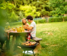 Family barbecue party HD picture