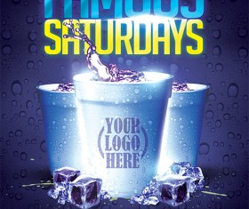 Famous Saturdays Flyer PSD Template