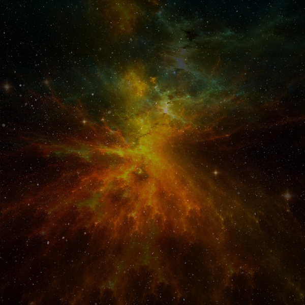 Fantasy beautiful space nebula Stock Photo 02