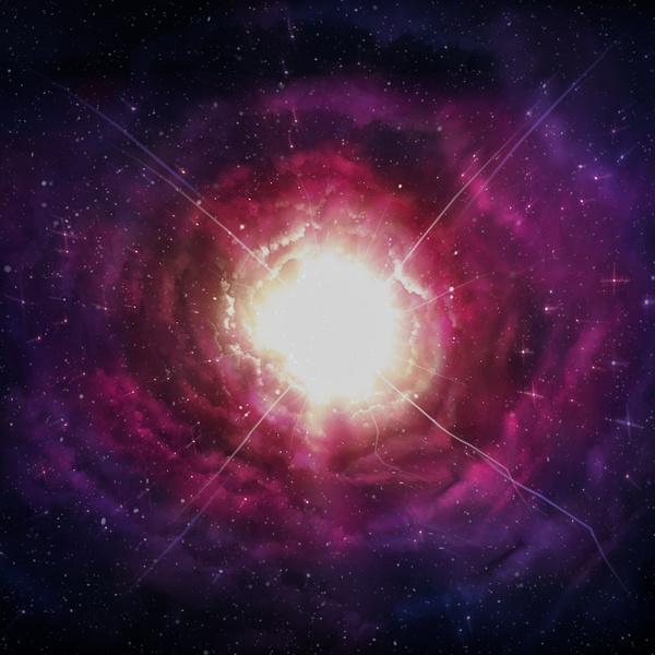 Fantasy beautiful space nebula Stock Photo 03