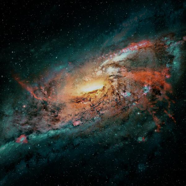 Fantasy beautiful space nebula Stock Photo 04