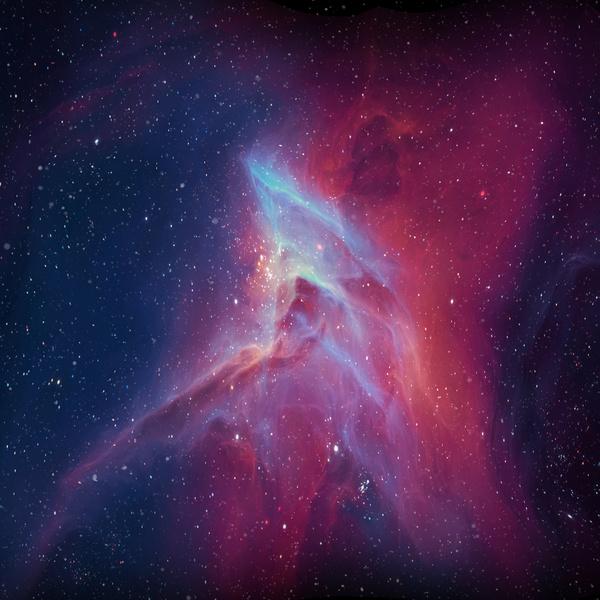 Fantasy beautiful space nebula Stock Photo 05