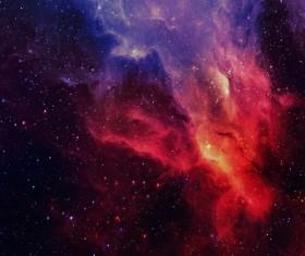 Fantasy beautiful space nebula Stock Photo 07