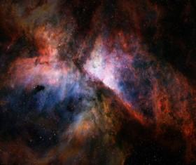 Fantasy beautiful space nebula Stock Photo 09