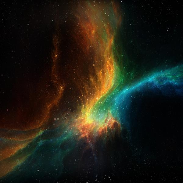Fantasy beautiful space nebula Stock Photo 10