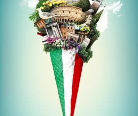 Fashion capital of Italy Stock Photo 04