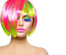Fashion hairstyle girl Stock Photo