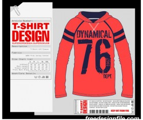 Fashion T Shirt Template Design Vector Material 12 Free