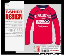 Fashion t-shirt template design vector material 03
