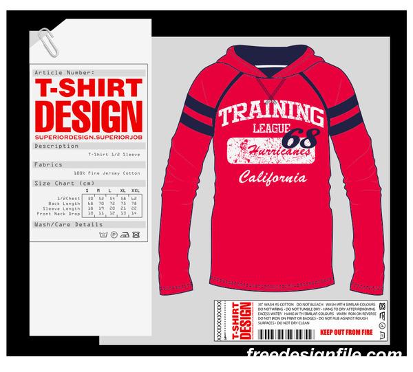 Fashion T Shirt Template Design Vector Material 03