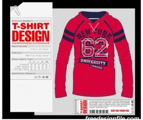 Fashion t-shirt template design vector material 04