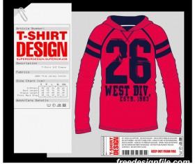 Fashion t-shirt template design vector material 05
