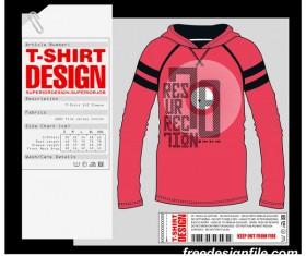 Fashion t-shirt template design vector material 06