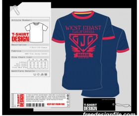 Fashion t-shirt template design vector material 07