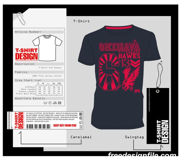 Fashion t shirt template design vector material 09
