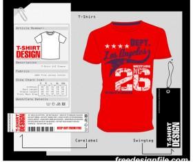 Fashion t-shirt template design vector material 10