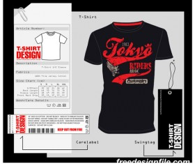 Fashion t-shirt template design vector material 11
