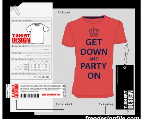 Fashion t-shirt template design vector material 12