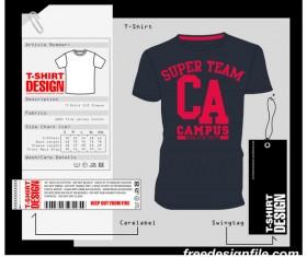 Fashion t-shirt template design vector material 13
