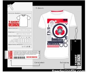 Fashion t-shirt template design vector material 15