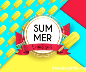 Final sale summer poster vector 01