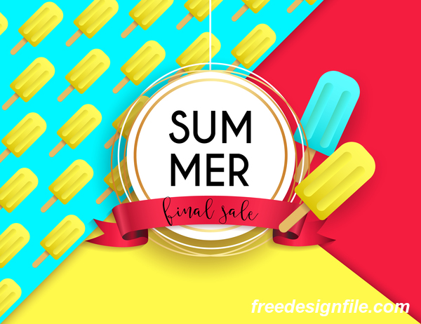 Final sale summer poster vector 02