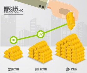 Financial industry infographics template vector 03