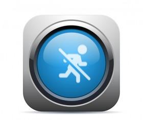 Forbidden run icon