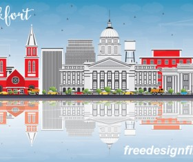Frankfort city landscape vectors