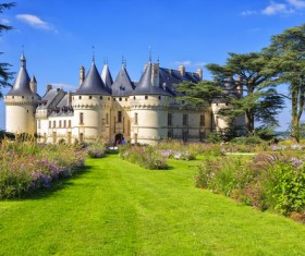 French traditional European castle Stock Photo 01