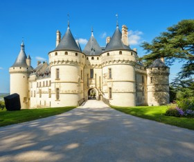 French traditional European castle Stock Photo 02